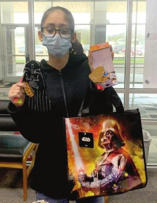 Vanessa Perez shows off her new Star Wars school gear ROBERTSON COUNTY NEWS